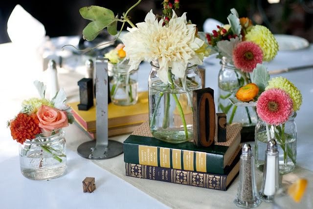 Book Themed Bridal Shower Inspiration - This would be great for Brynn. Maybe collect love quotes from books and blow them up as decoration?