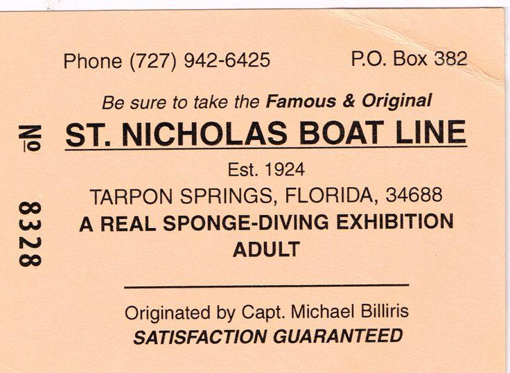 Sponge cruise ticket