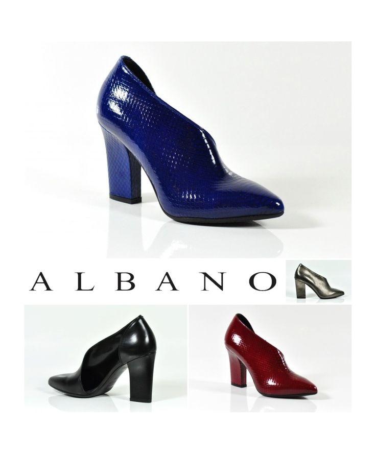 Albano presenta un'elegante scarpa da sera realizzata in morbida pelle pitonata
