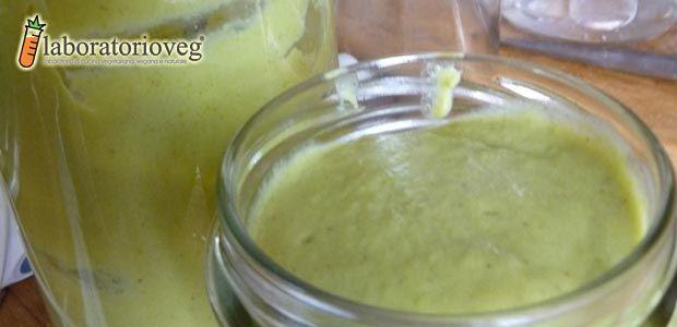 Salsa di tofu spalmabile zucchine e curry