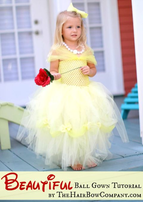 Belle dress tutorial - DIY tutu dress