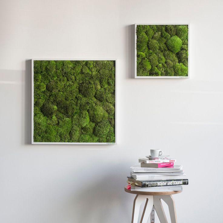Deko In Natur Optik Rinde Moos Vertikal Garten Design | Möbelideen