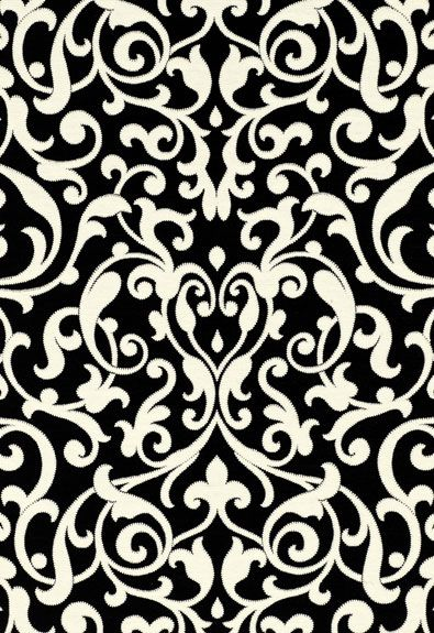Fabric | Celine Arabesque in Noir | Schumacher