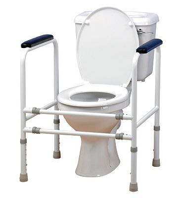 Homecraft Width Adjustable Toilet Surround 276 Advantage card points. A toilet surround that is height and width adjustable enabling the frame to be used within various bathroom layouts. Maximum user weight 190kg / 30st. FREE Delivery on order http://www.MightGet.com/april-2017-1/homecraft-width-adjustable-toilet-surround.asp