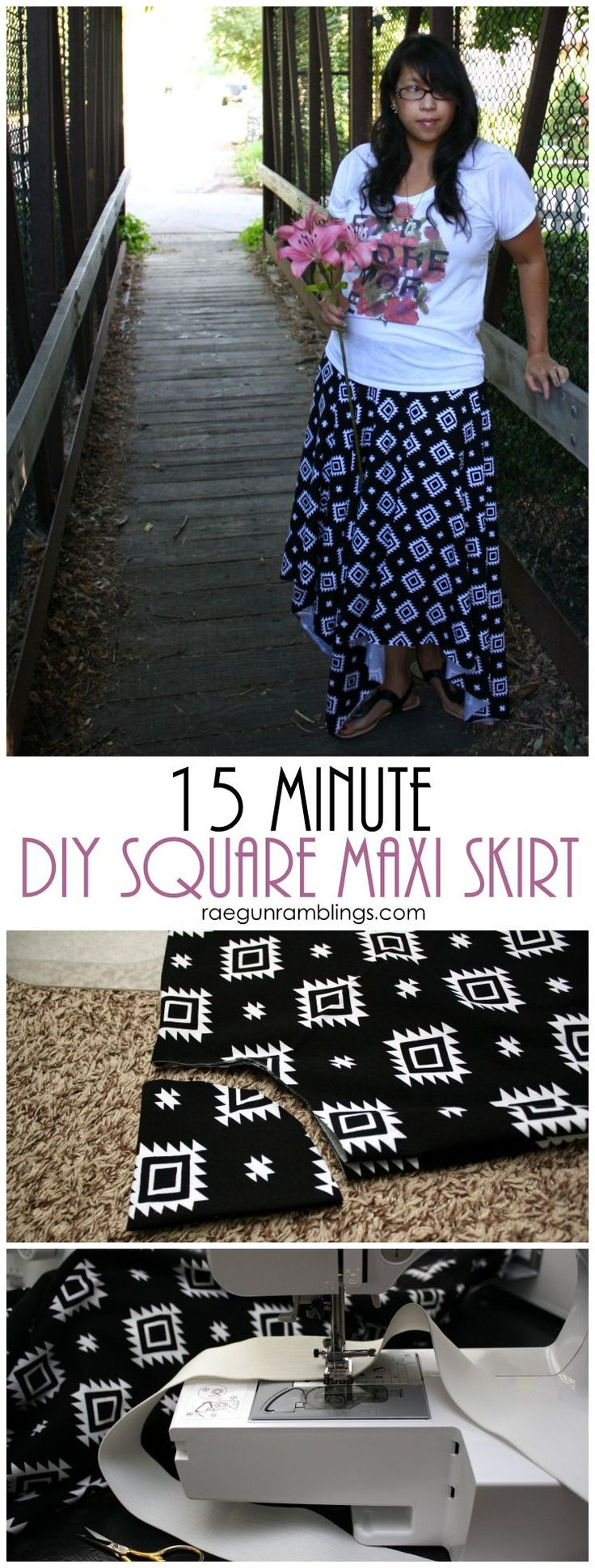 My new favorite DIY skirt tutorial so fast, easy, and cute