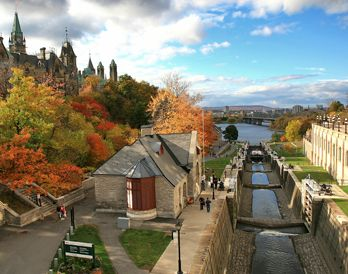 Rideau Canal and the Bytown Museum, Ottawa, ON