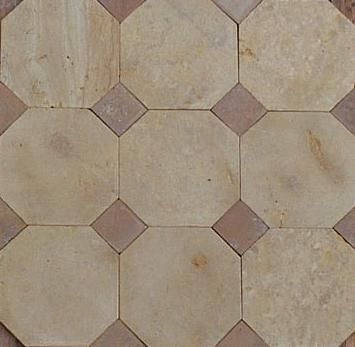 11 best Dallage à cabochons - Octogonal Tile with corner squares