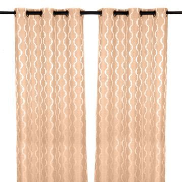 Soften the look of your room with the Baroque Tan Curtain Panel Set. #Kirklands #BedandBath