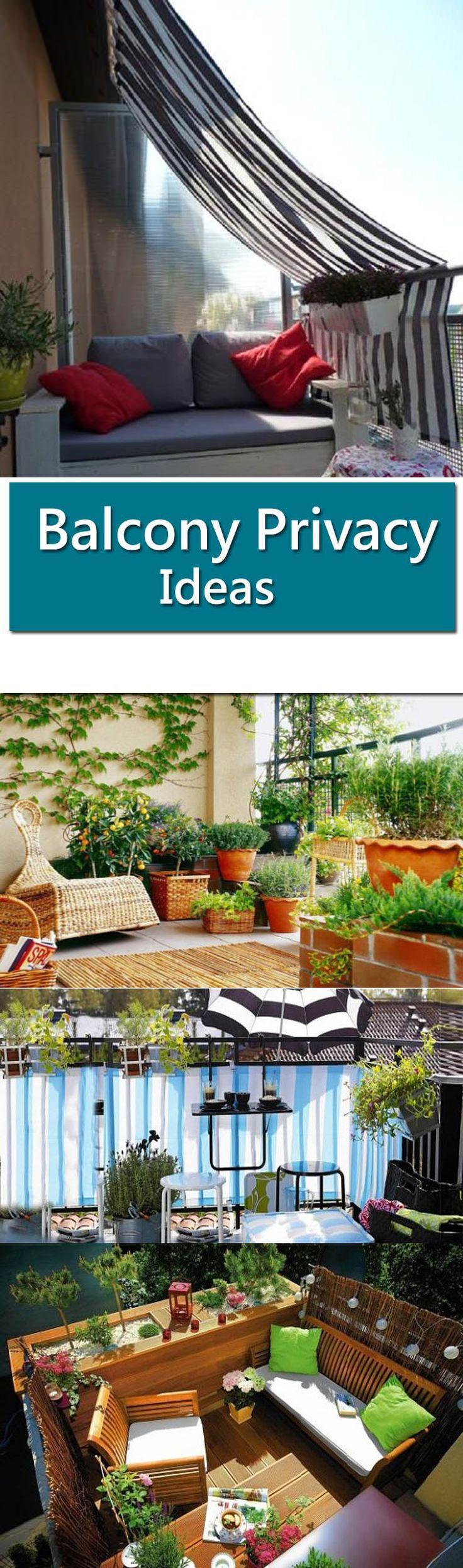 8 Practical Balcony Privacy Ideas – #Balcony #Ideas #Practical #Privacy #rideau