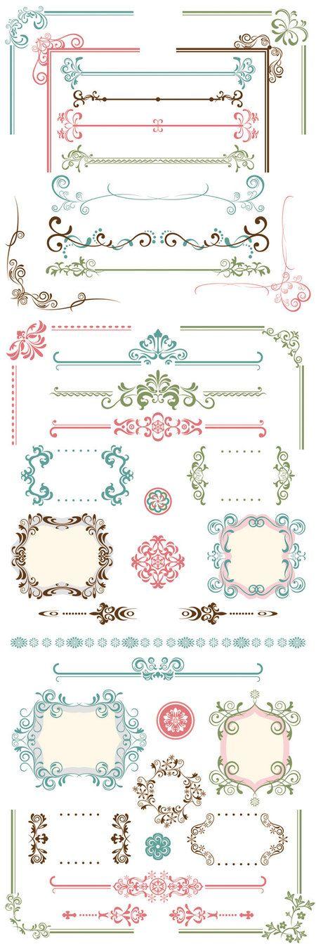 Classic Border Frame eps Vector thumb 450x1350 2684…