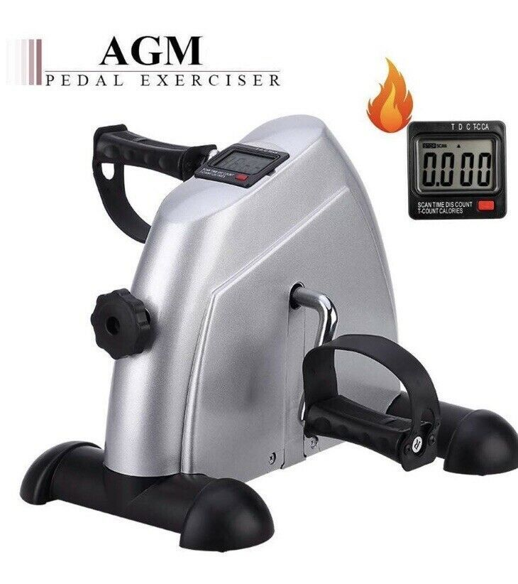 Agm Exercise Under Desk Pedal Stepper With Lcd Display Condition New Ebay Mini Exercise Bike Biking Workout No Equipment Workout