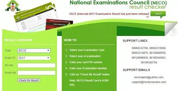 How to Check NOV/DEC 2017 NECO GCE Result Online