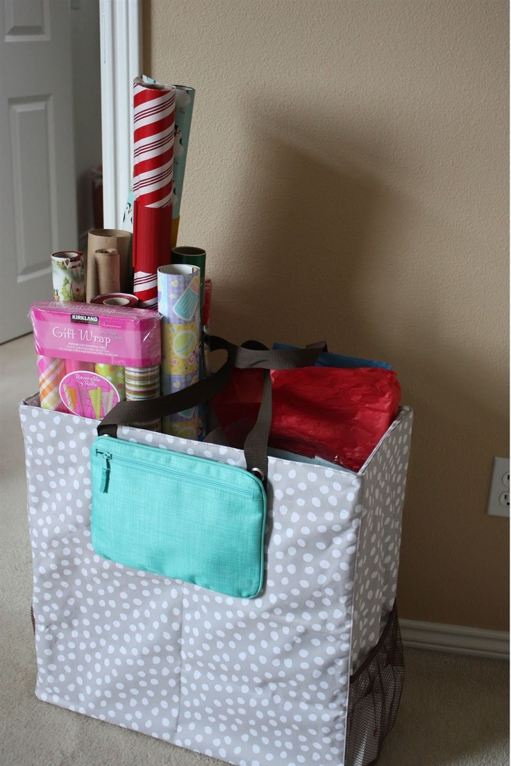 wrapping paper station Spread some holiday cheer with these diy gift wrap ideas – ribbon you can make in your shop, ingenious wrapping paper storage tricks,  create a gift wrap station.
