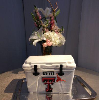 Incredible Texas Tech Yeti cooler Grooms cake.