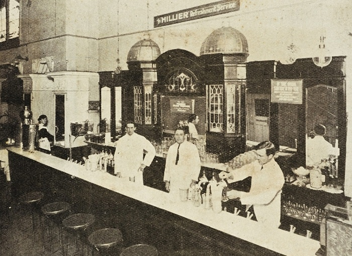 Hillier's Chocolates Soda Fountain, Pitt Street Sydney. Established 1914. Australian Made and Owned. Australia's first chocolate factory.