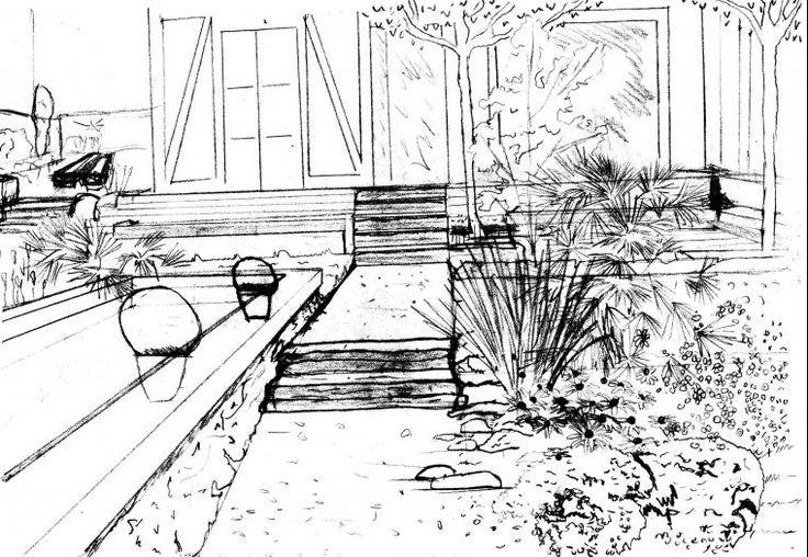 104 best esquisses jardin images on pinterest decks searching and bretagne. Black Bedroom Furniture Sets. Home Design Ideas