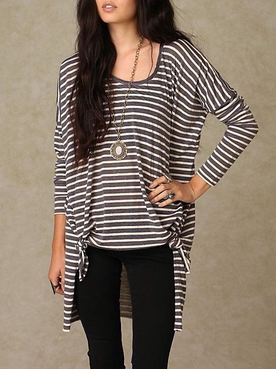 041bc08d075 FREE PEOPLE SUPER STRIPE TEE WOMENS TUNIC ONE SIZE BEACH OVERSIZED PULLOVER  BOHO #fashion #clothing #shoes #accessories #womensclothing #tops (ebay  link)