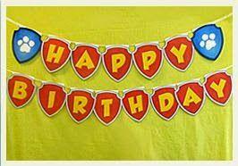 Paw Patrol: Banderines de Happy Birthday para Imprimir Gratis. | Ideas y material gratis para fiestas y celebraciones Oh My Fiesta!