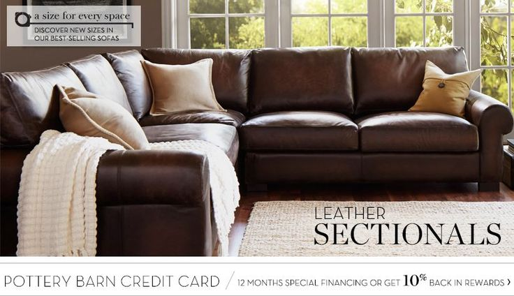 Leather Sectionals & Leather Sectional Sofas | Pottery Barn