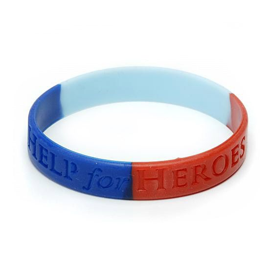 Get the wristband everyone is wearing and show your support for our wounded heroes!!