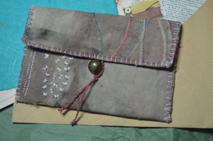 Hand Stitched Pouch by PoppiJen on Etsy