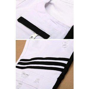 デニムパンツ メンズ  ジーンズ メンズ インポート ワークパンツ 白 ホワイト パンツ ライダースパンツ 夏 新作 個性的 V系 サロン系 大人