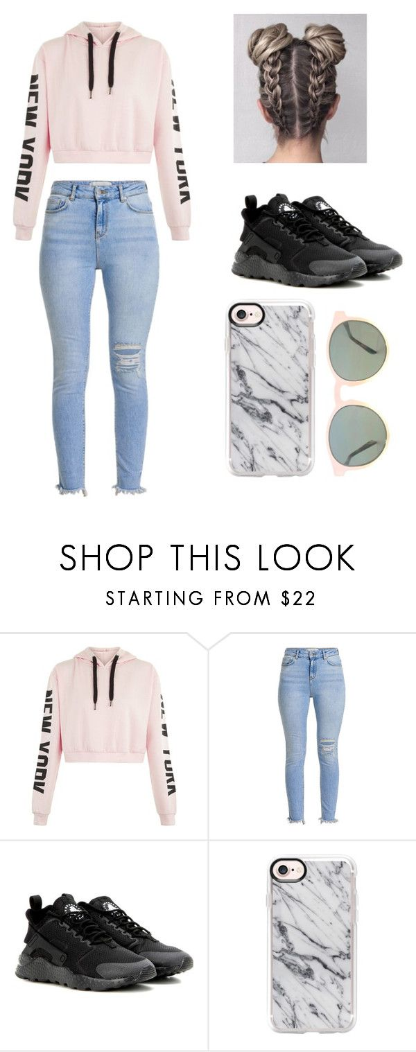 """""""Cute Outfit #1"""" by joely-briseno ❤ liked on Polyvore featuring NIKE, Casetify and HOOK LDN"""