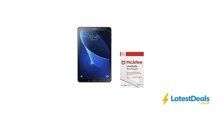 "SAMSUNG Galaxy Tab a 10.1"" Tablet & LiveSafe Premium Bundle Free Delivery, £159 at Currys PC World"