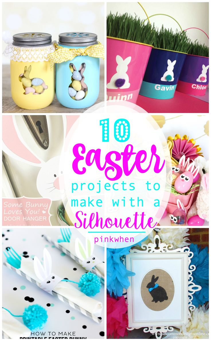 Check out these 10 AWESOME Easter Projects to Make with your Silhouette. Big or small, you can find something cute and easy!