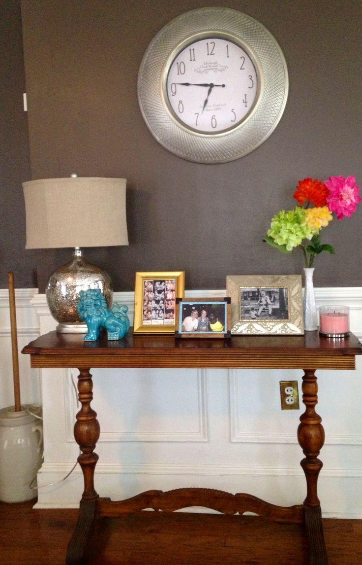 how to decorate the buffet table entry way foyer ideas pinterest the o 39 jays decor and. Black Bedroom Furniture Sets. Home Design Ideas