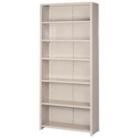 "Closed Shelving Add-On, 7 Extra Hd Shelves, 36""Wx18""Dx84""H Putty by LYON WORKSPACE PRODUCTS. $267.95. Lyon Closed Shelving Add-On, 7 Extra HD Shelves, 36""Wx18""Dx84""H Putty 18-Gauge Extra Heavy Duty Box W shelves deliver 1300 lb. capacity for storing motors, pumps, and other heavy equipment. 18 ga. box, 18 ga. flanged, lapped and welded. T-Post, B.P., O.A., 16 ga. cold rolled, formed steel. Double thick. Adjustable 1 1/2"" centers."