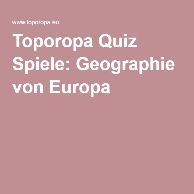 Toporopa Quiz Spiele: Geographie von Europa