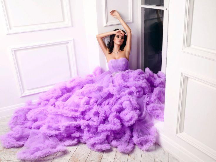 Лавандовое платье-облако