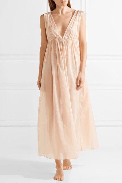 Three Graces London - Octavia Cotton-voile Nightdress - Neutral - UK10