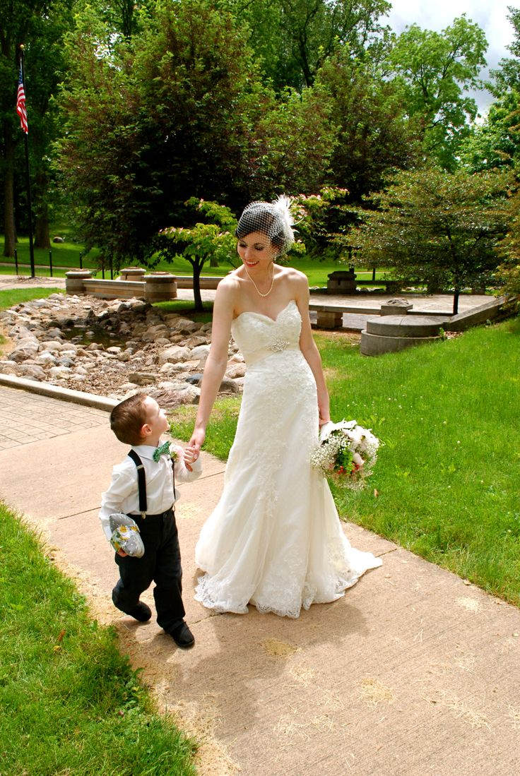 I want this picture with my ring bearer, flower girl and my husband with both……