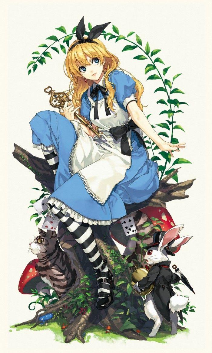 Dessins d'Alice Aux Pays Des Merveilles