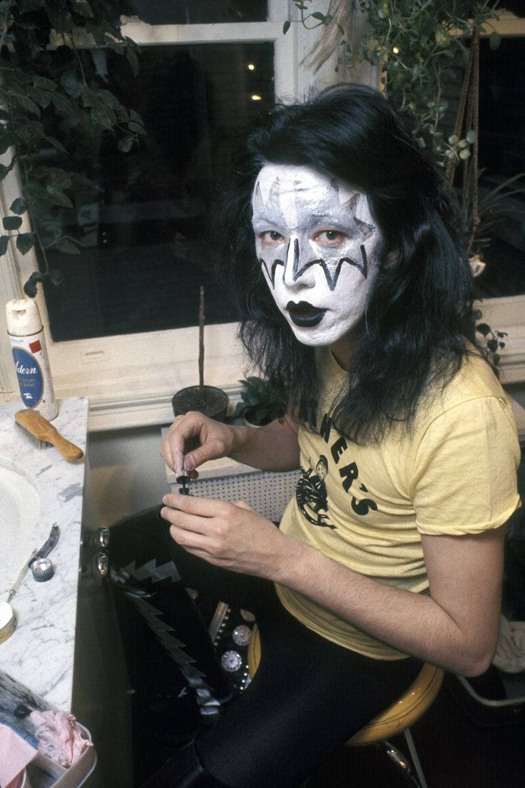 "Each man's makeup reflected a character and personality: Stanley's heady romantic ""Starchild,"" Simmons' twisted and cynical ""Demon,"" Criss' nine-lived ""Catman,"" and Frehley's extraterrestrial ""Space Ace."""