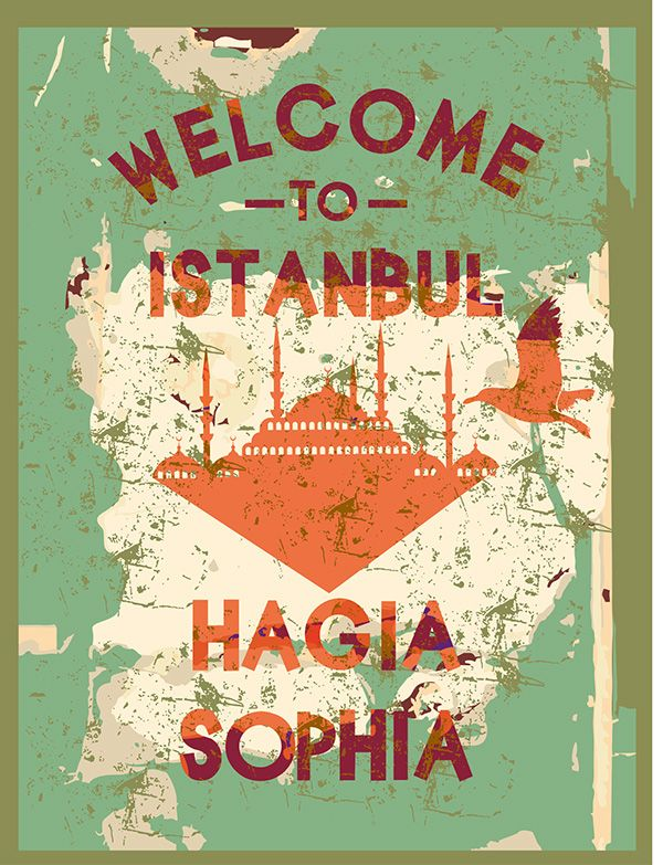 welcome to istanbul city vector art