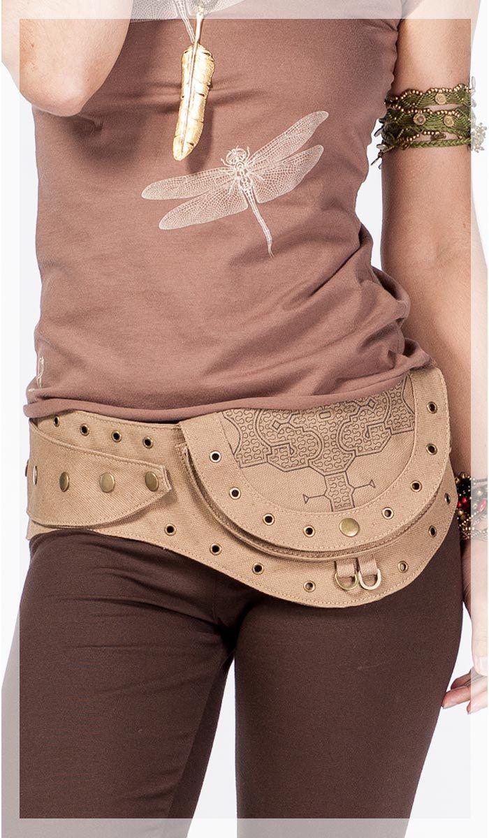 Сумочка на пояс ChintaMani, веганская сумка, стиль бохо, сумка в бохо стиле, boho style bag, vegan bag, gipsy style. 5180 рублей