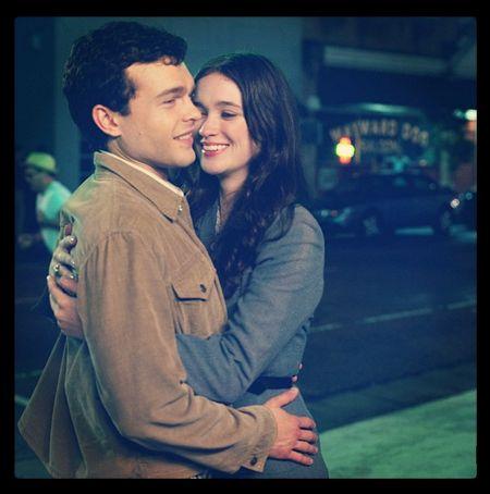 Ethan & Lena (Alden Ehrenreich & Alice Englert) in the #BeautifulCreatures movie