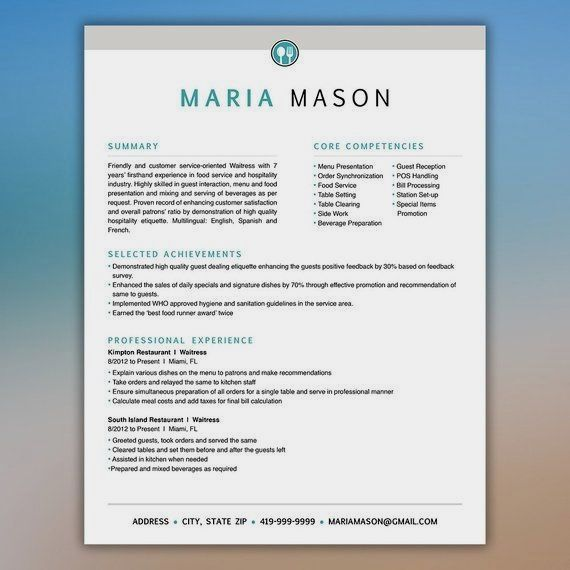 This Professionally Designed 3 Page Resume Template Downloads