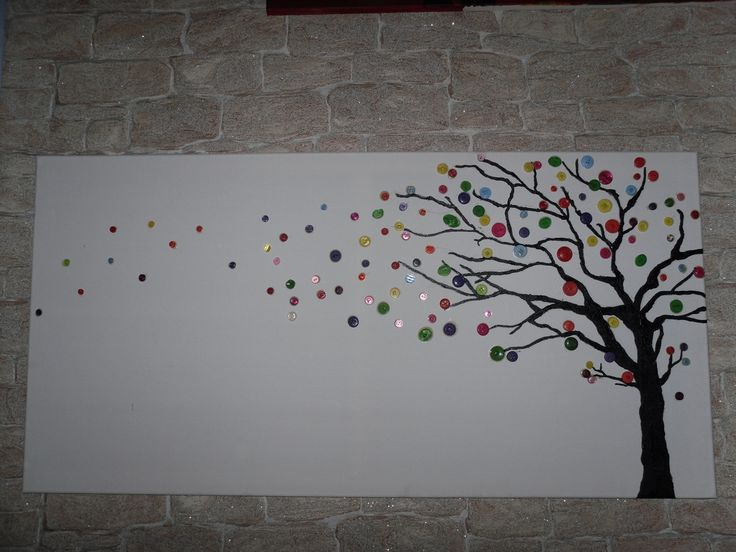 Love this for an inexpensive art piece in our house (just did a similar one for preschooler art craft)