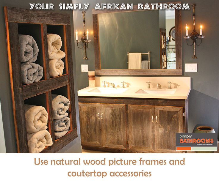Call attention to the natural world, with wooden accessories… #HomeImprovements #BathroomDecor