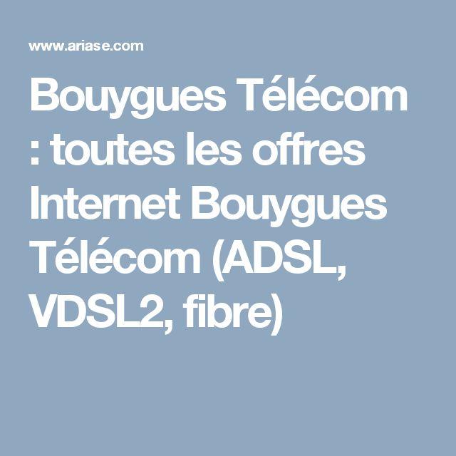 Bouygues Télécom : toutes les offres Internet Bouygues Télécom (ADSL, VDSL2, fibre)