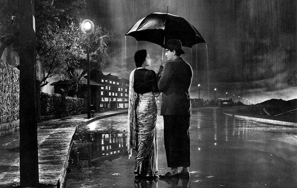 """""""Raj Kapoor and the Golden Age of Indian Cinema"""" at MoMa includes """"Shree 420,"""" starring Kapoor, right, and Nargis."""
