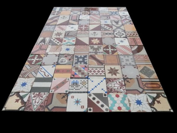 Really old PATCHWORK floor tiles - set of 400 tiles - 16sqm of surface