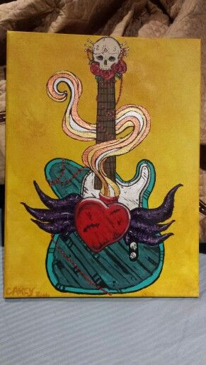 Chris's telecaster painting.
