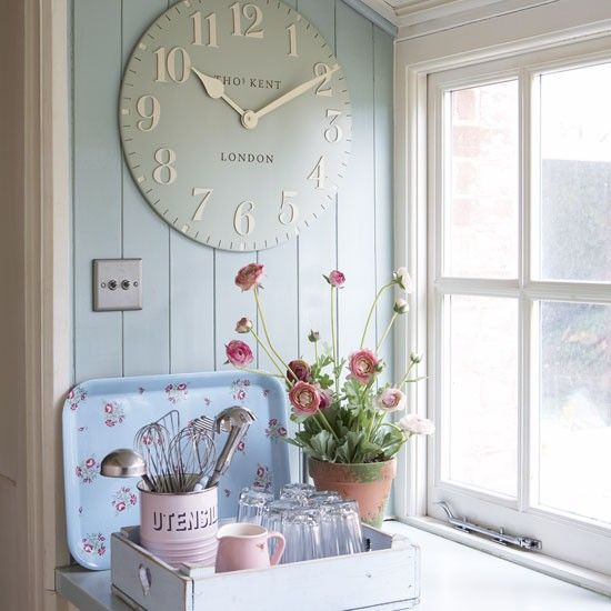 Get the look with the Thomas Kent 20 inch duck egg blue clock!