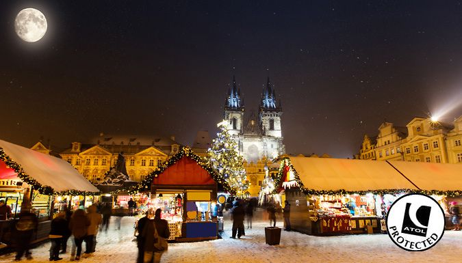 UK Holidays: Prague, Czech Republic: 2-3 Night Christmas Markets Break With Hotel & Flights - Up to 34% Off for just: £89.00 Czech out the festivities with a trip through Prague's magical Christmas markets      There's plenty of room at the inn - stay at the Hotel City Inn or Hotel Union Prague      Both hotels offer great locations for exploring the city in all of its seasonal glory.     ...