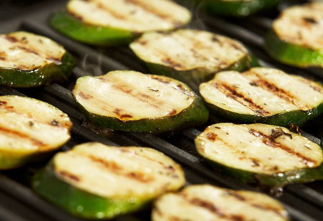 Grill Zucchini on a Breville pannini press or indoor grill.